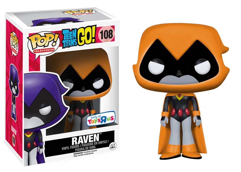 Action Stickers Starfire Funko Orange Raven Character Teen Titans Figure Hero #108 Bundled with Adventure Cartoon Toy Super Pop Pack Killer Moth Exclusive Beast Boy /& Cyborg 3 Item Bundle Raven