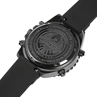 Amazon.com: INFANTRY Big Face Mens Military Tactical Watch Black Large Sport Wrist Watches for Men: Watches