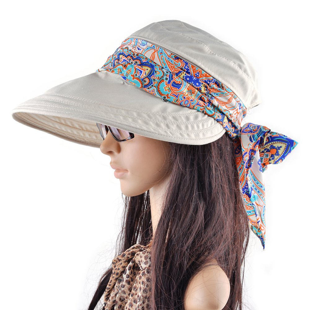 Amazon.com  AStorePlus Gorgeous Women Visor Hats Lady Wide Brim Gardening  Cap UV Protection Summer Sun Hats 2e15ca5bde7