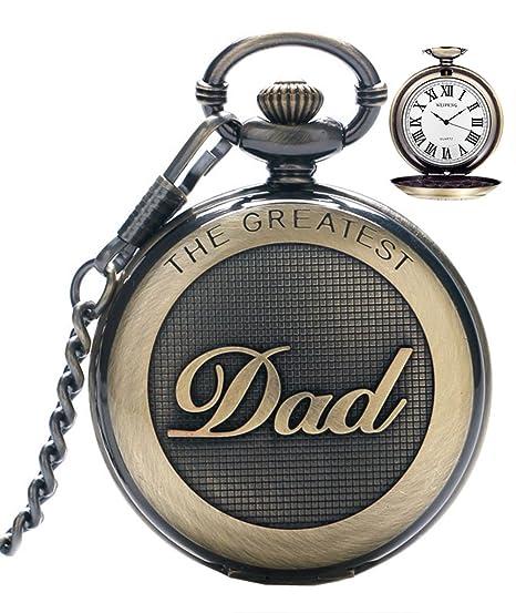 Reloj de bolsillo para hombre cuarzo con cadena para hombres colgante de reloj de bolsillo con