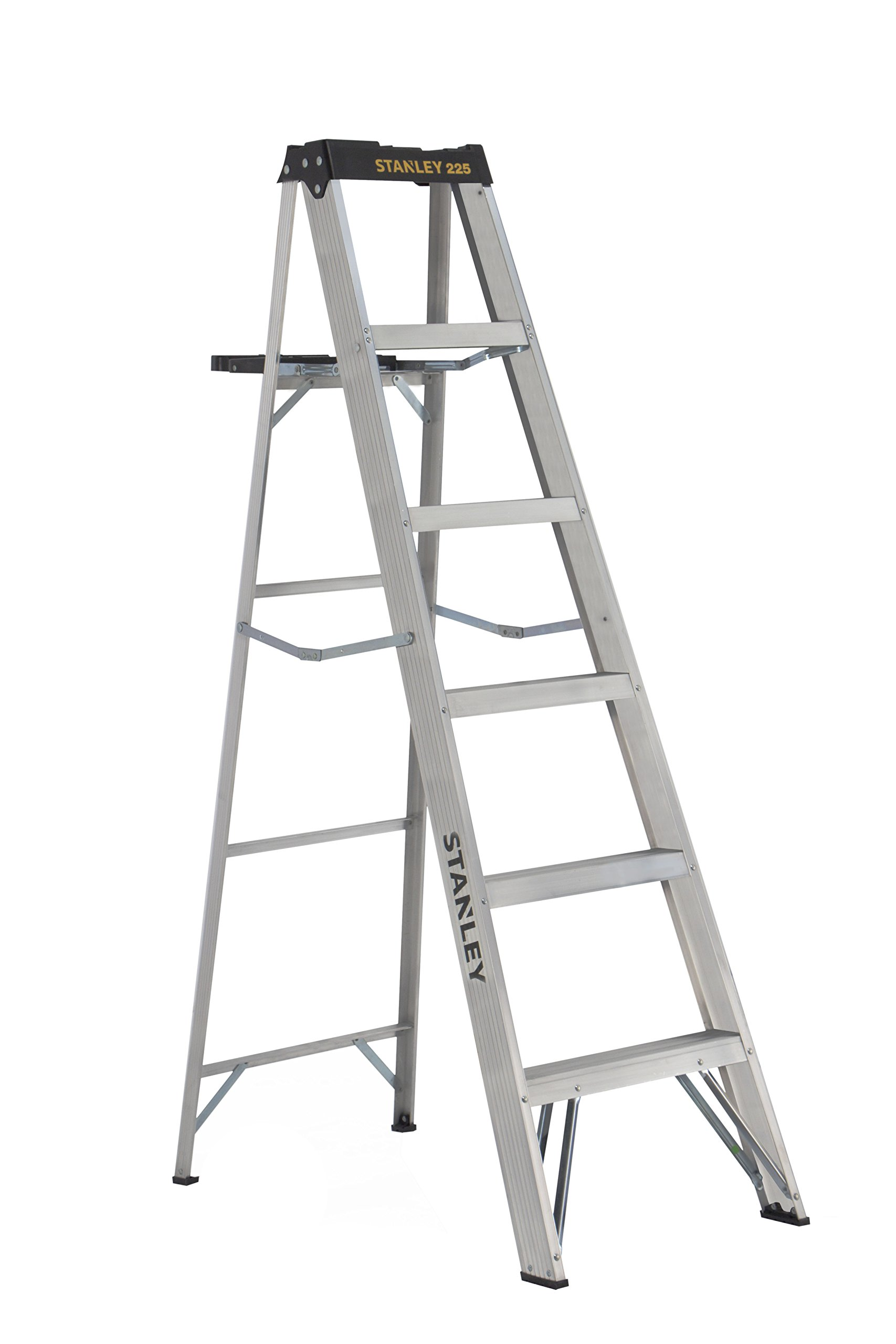 Stanley SXL2212-06 Aluminum Step Ladder Type II, 225 lb Load Capacity 6' with Multi-Functional Top
