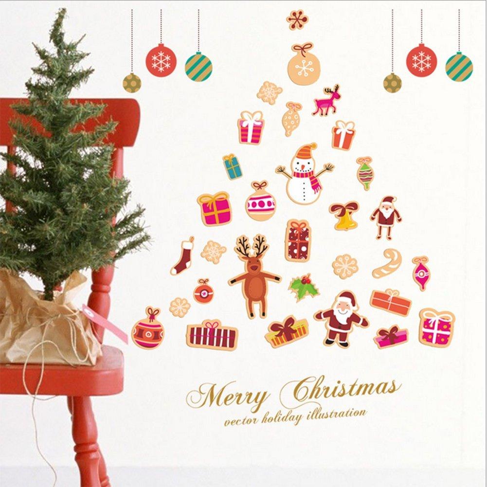 Amazon Co Jp 桜の顔 壁紙 ウォールステッカー クリスマス装飾