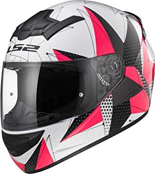LS2 - Casco para moto FF352 Rookie Brilliant, blanco/rosa ...