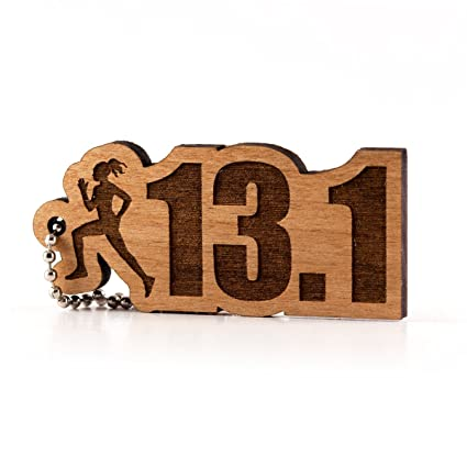 Amazon.com  Sunset Design Lab Womens Half Marathon 26.2 Running Wood Laser  Cut Keychain Charm Ornament  Automotive 525fdb847