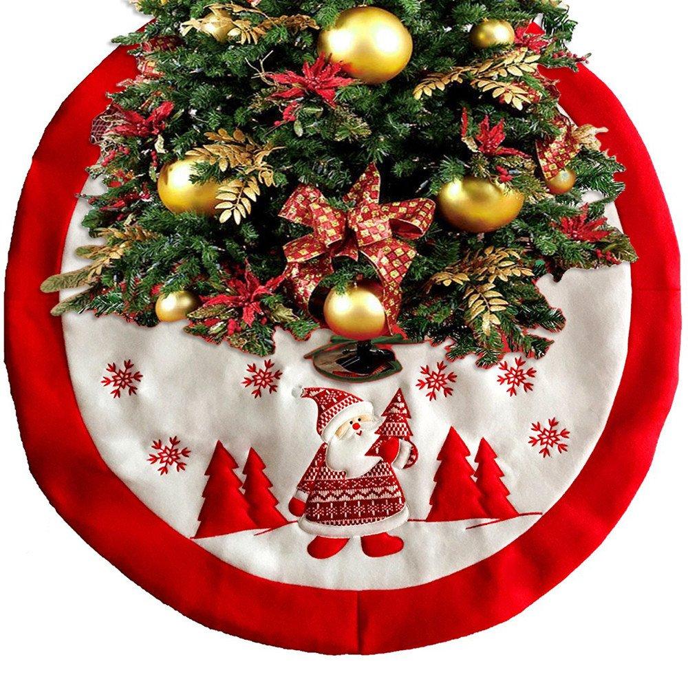 Christmas Decorations Apron Christmas Tree Skirt, High Grade Embroidery Christmas Tree Skirts Aprons