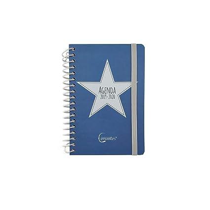 Agenda Escolar 2019-2020 formato pequeño (120x160 mm) español (Azul Estrella Gris)