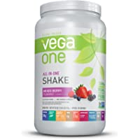 Vega One All-In-One Nutritional Shake Berry (20 Servings) - Plant Based Vegan Protein Powder, Non Dairy, Gluten Free…