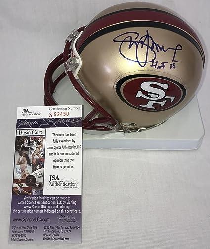 d2a1979c1 Image Unavailable. Image not available for. Color  Ken Norton (San  Francisco 49ers) Autographed Helmet - Steve Young Mini Certified - JSA
