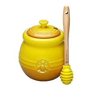 Le Creuset PG1015-1070 Stoneware Honey Pot, 16-Ounce, Dijon
