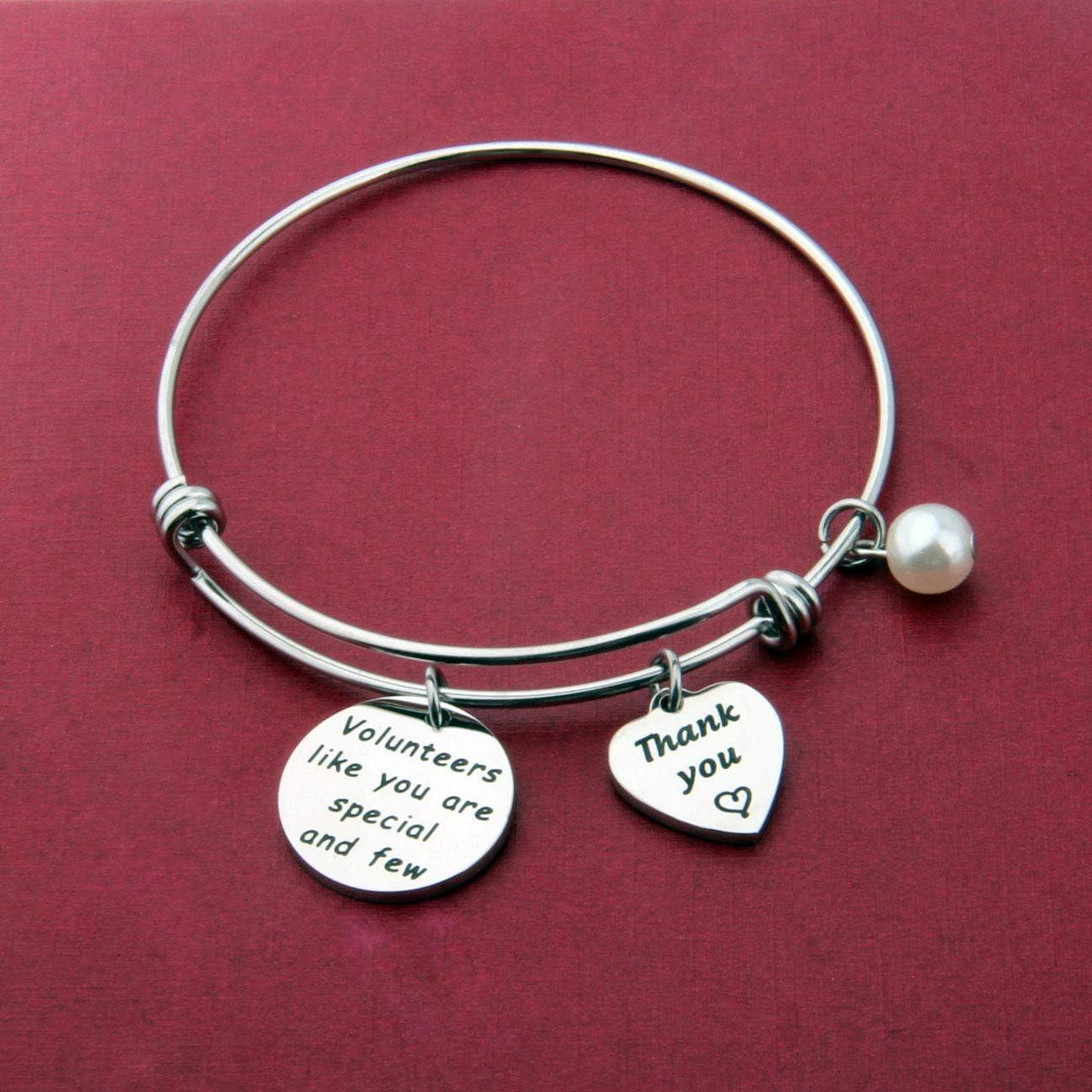 A21 Thank You  Volunteer Waxed Cotton Cord Friendship Jewelry Little Heart Bracelet Volunteer Appreciation Gift Wish Bracelet