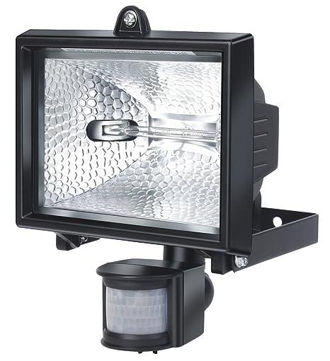 Electraline 63006 - Proyector halógeno con sensor de movimiento (IP44, 8500 lúmenes, 400