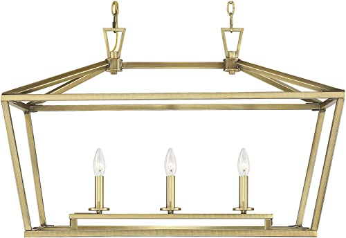 Savoy House 1-323-3-322 Townsend 3-Light Linear Chandelier in a Warm Brass Finish 32 W x 21 H