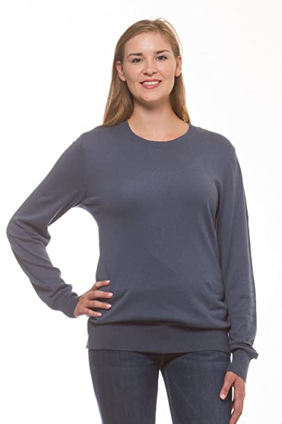 247ca1d91d2c6 Womens Merona Long Sleeve Crewneck Sweater Blue L at Amazon Women s  Clothing store