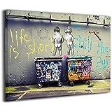 Steven Robert Banksy バンクシー ストリート アートパネル アートフレーム キャンバス絵画 インテリアパネル インテリア絵画 インテリア装飾 壁飾り木枠セットお洒落 アートパネル Arts モダン 新築飾り 贈り物