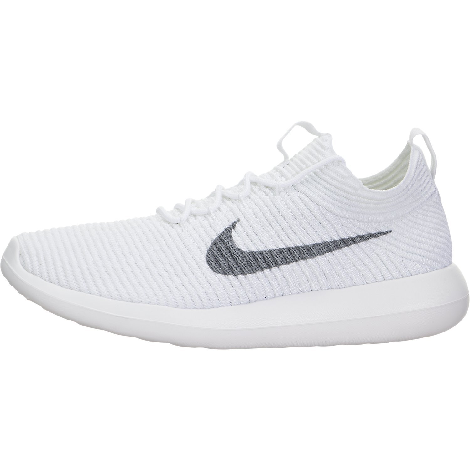 buy online d5b8b 69550 Nike Womens Roshe Two Flyknit V2 White/Wolf Grey White White Running Shoe 8  Women US