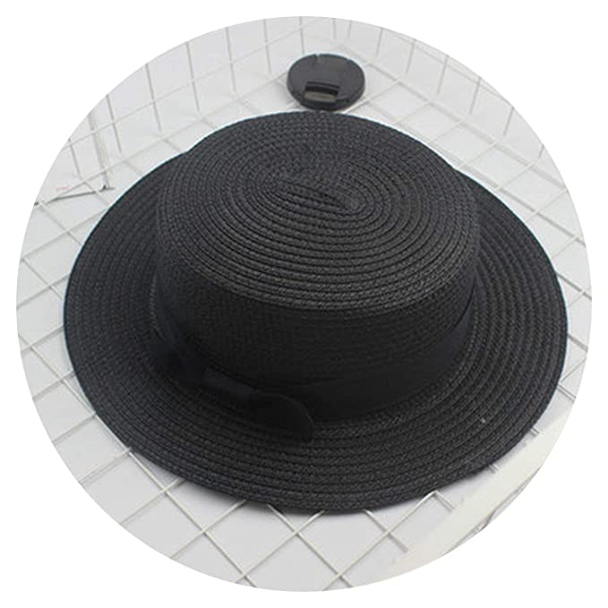 0045ad936e16e Image Unavailable. Image not available for. Color  Fashion Parent-Child Sun  hat Cute Children Sun Hats Bow Hand Made Women Straw Cap