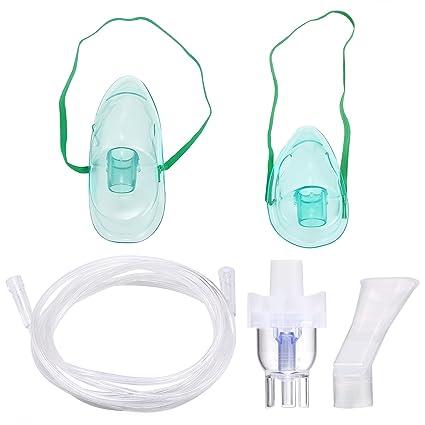 Inhalador Nebulizador aerosol accesorios adecuado para todas las máquinas, inhalación Compresor Kit Incluye Tubo,