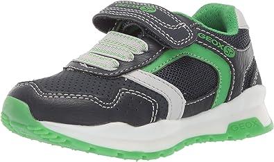 Geox CORIDAN Boy J845DD Jungen Slip On Sneaker,Kinder Halbschuh,Sportschuh,Slipper,Gummizug,Klettverschuss,NavyGreen,33