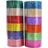 MUCH-MORE Indian Traditional Plain Metal Bangles Box Bracelets Indian Costume Partywear Jewelry for Women
