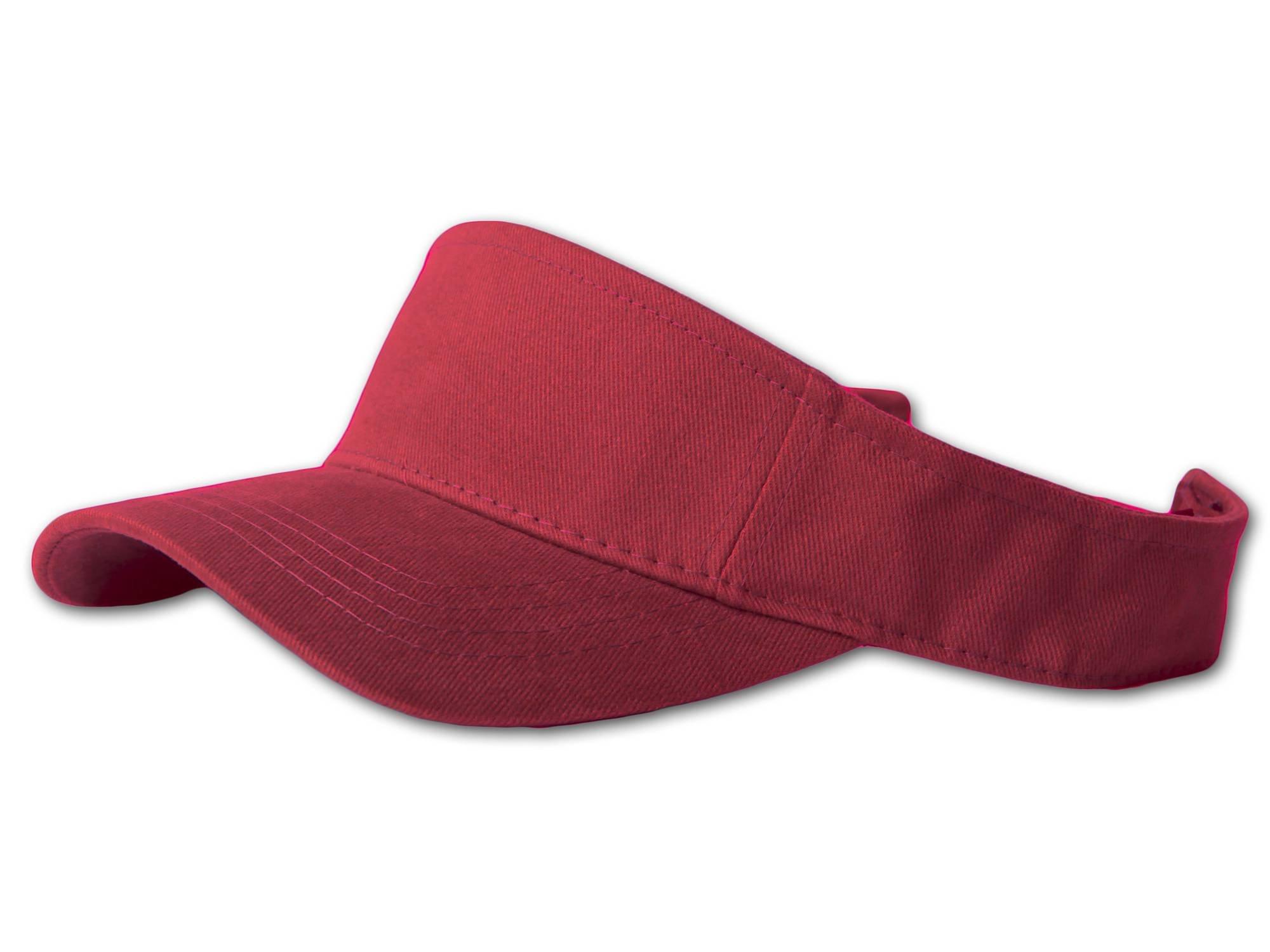 12 Lot (One Color) Visor Caps- Maroon