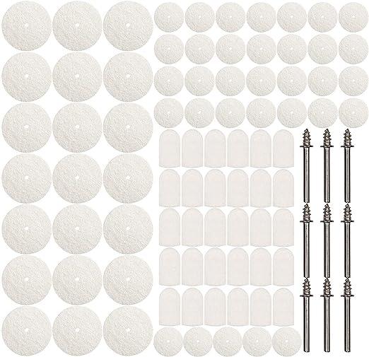 25Pcs 3x8 Felt Polishing Buffing Pad Head Set for Rotary Tool KM
