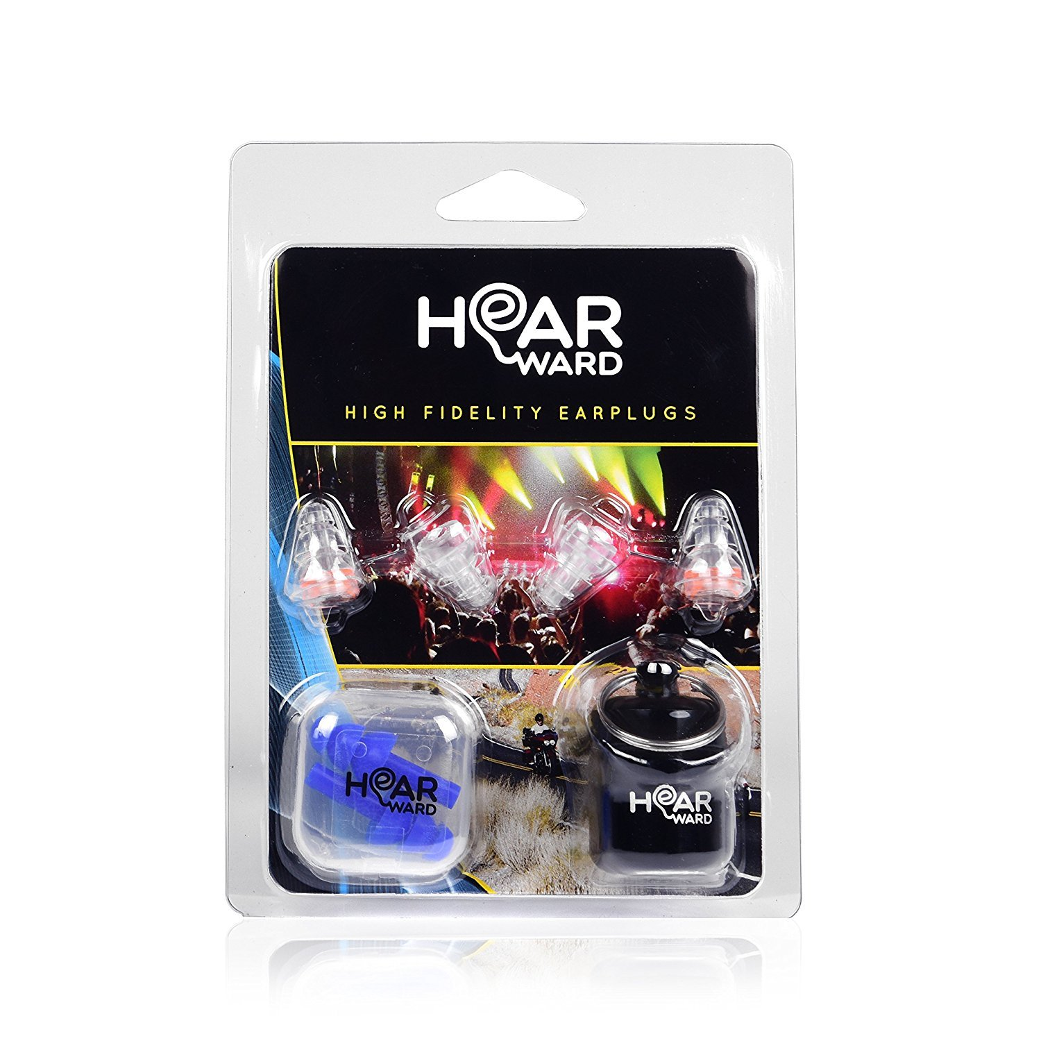 High Fidelity Reusable Earplugs By HearWard: Noise Reduction Ear Plugs For Sleeping, Concerts, Racing, Study & Travel – Smaller Earplugs & Water Blocking Swimming Ear Plugs Included by Hearward (Image #9)