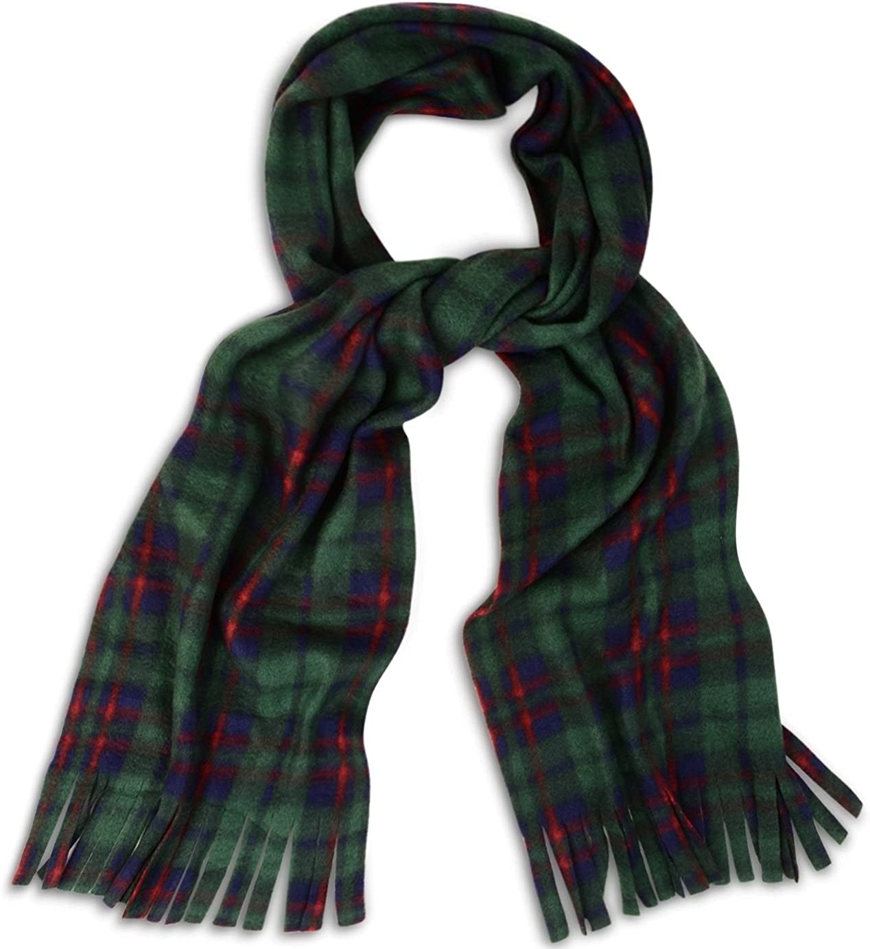 Super Soft and Cosy Tartan Check Fleece Winter Scarf Scarves with Tassles Warm