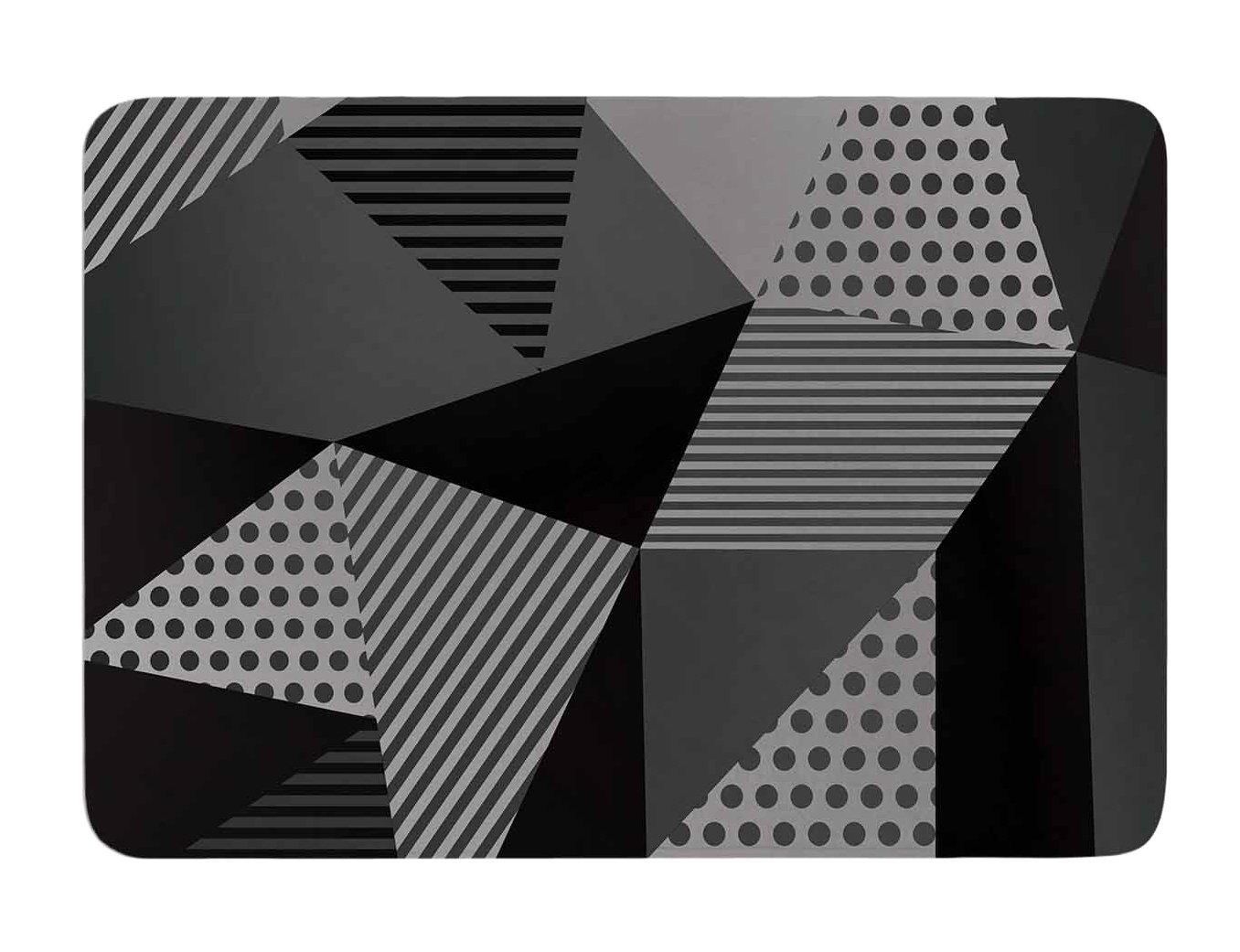 Kess InHouse Louise Machado Gray Pallete Black Gray Memory Foam Bath Mat, 17 by 24-Inch, 17' X 24'
