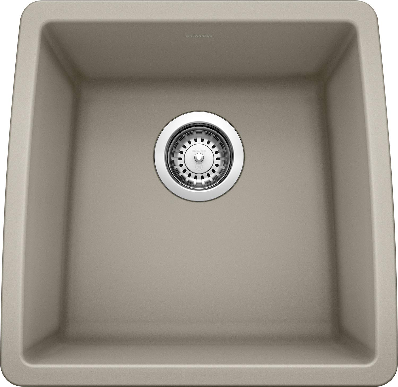 Blanco 441288 PERFORMA SILGRANIT 17.5'' Single Bowl Undermount Bar, Truffle Kitchen Sink by BLANCO