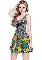 CowCow Womens Marijuana Cannabis plant marihuana Leaves Sleeveless Dress, XS-5XL