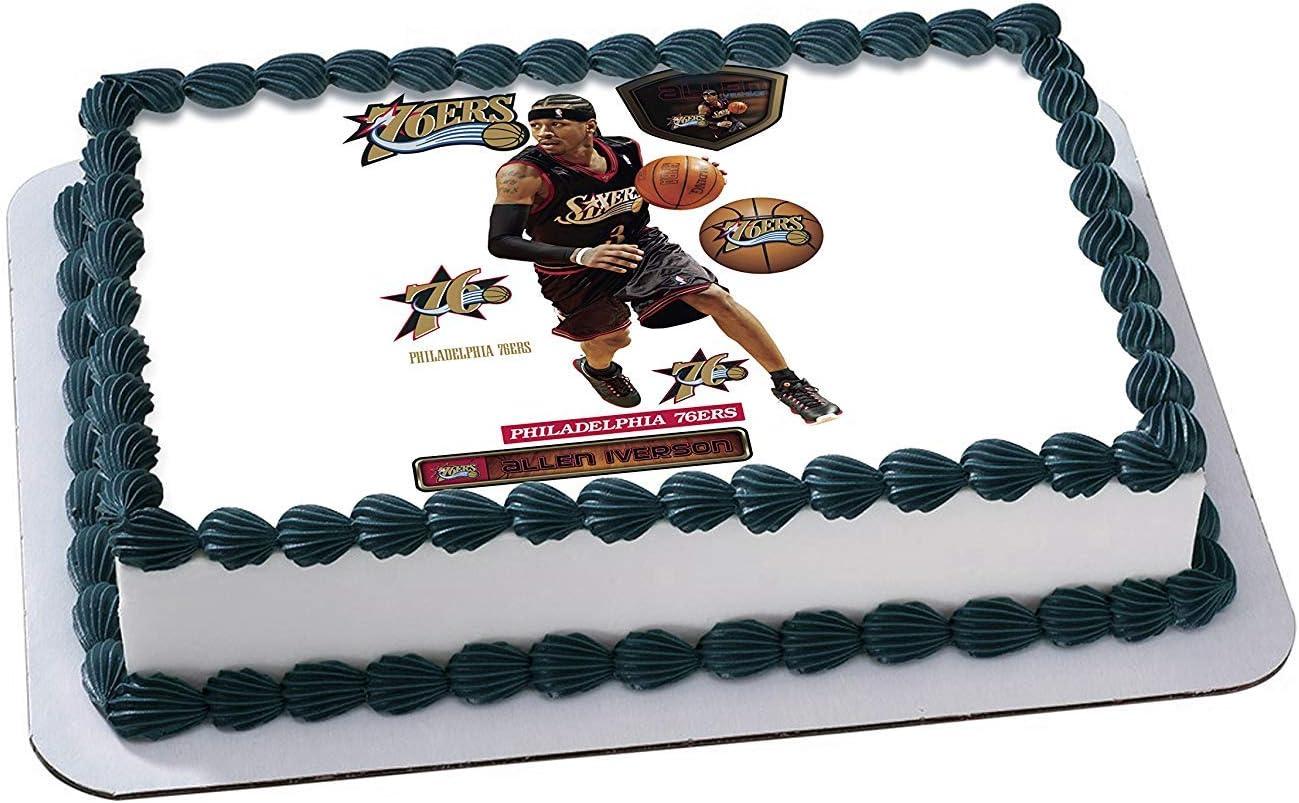 Amazing Amazon Com Allen Iverson Philadelphia 76Ers Edible Image Cake Personalised Birthday Cards Epsylily Jamesorg