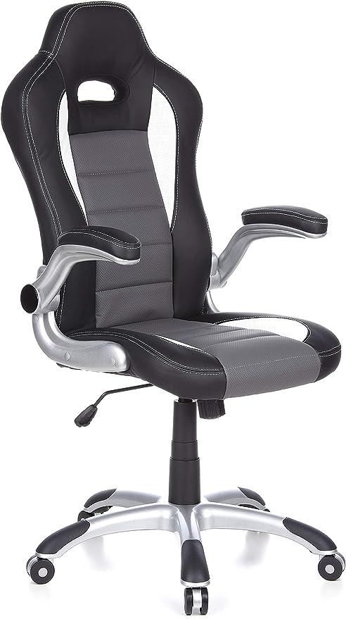 hjh OFFICE 621710 silla gaming RACER SPORT piel sintética negro ...