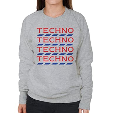 Coto7 Techno Tesco Logo Women's Sweatshirt: Amazon co uk