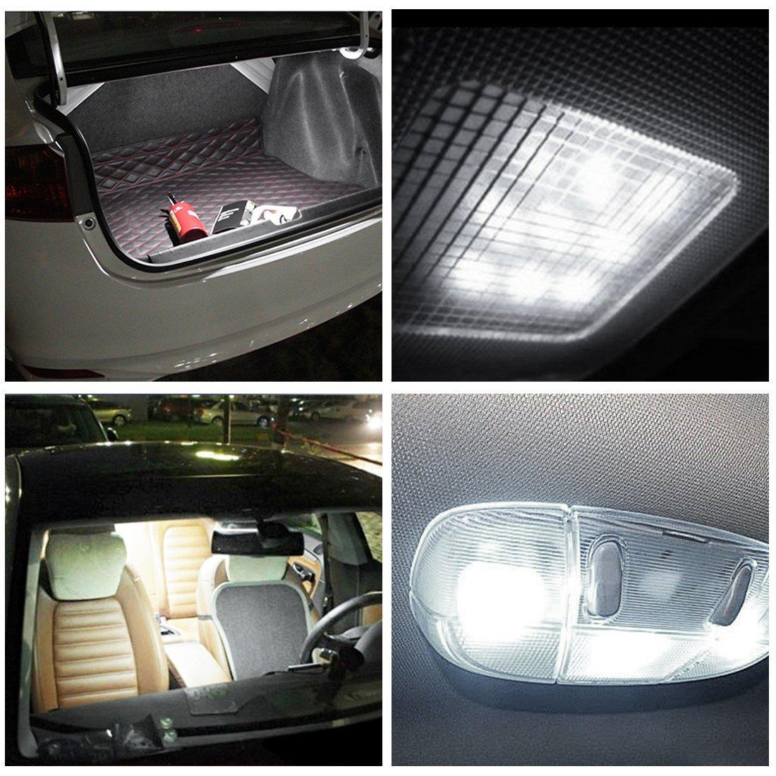 37 mm, 38 mm, 39 mm, 6 SMD, para interior de coche, domo, mapa, maletero, luz de matr/ícula, 6000 K, xen/ón blanco JSVSAL C5W 6413 6418 6411 Bombillas LED de interior y placa de matr/ícula