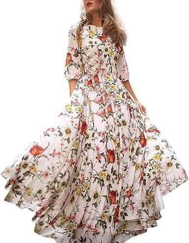 Vestidos Casual para Mujer Mujeres Verano Falda Grande Cordón ...