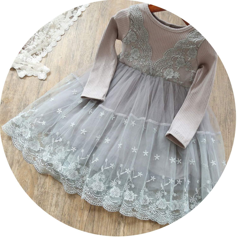 Vestido de Princesa para niñas de 2 3 6 años, Manga Larga, Vestido ...