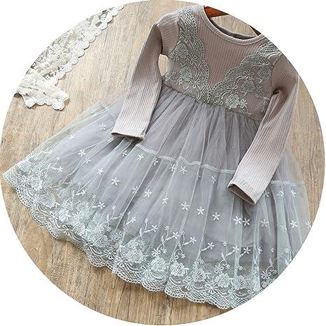 7d1f9ad7a038 Amazon.com: Princess Girls Dress 2 3 6 Year Children Long Sleeve ...