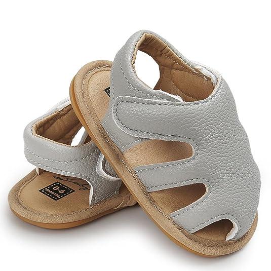Huhua Sandals For Boys, Sandali bambini, Grigio (Gray), 12-18 Months