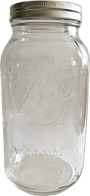 Amazon Com Ball Mason Jar 64 Oz Clear Glass Wide Mouth Ball Half Gallon One Jar Home Improvement