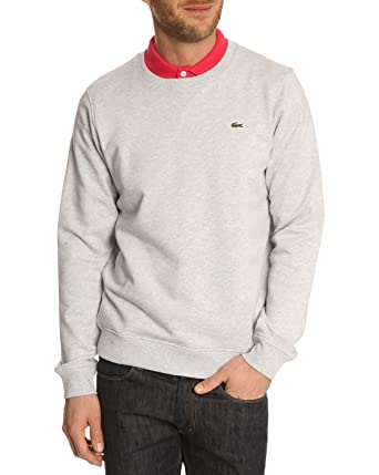 Molleton col Homme Sweat Gris LACOSTE shirt Rond Sweats XS PTacW4q6