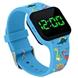 Potty Training Timer Watch with Flashing Lights and Music Tones - Water Resistant, Rechargeable, Dinosaur Pattern…