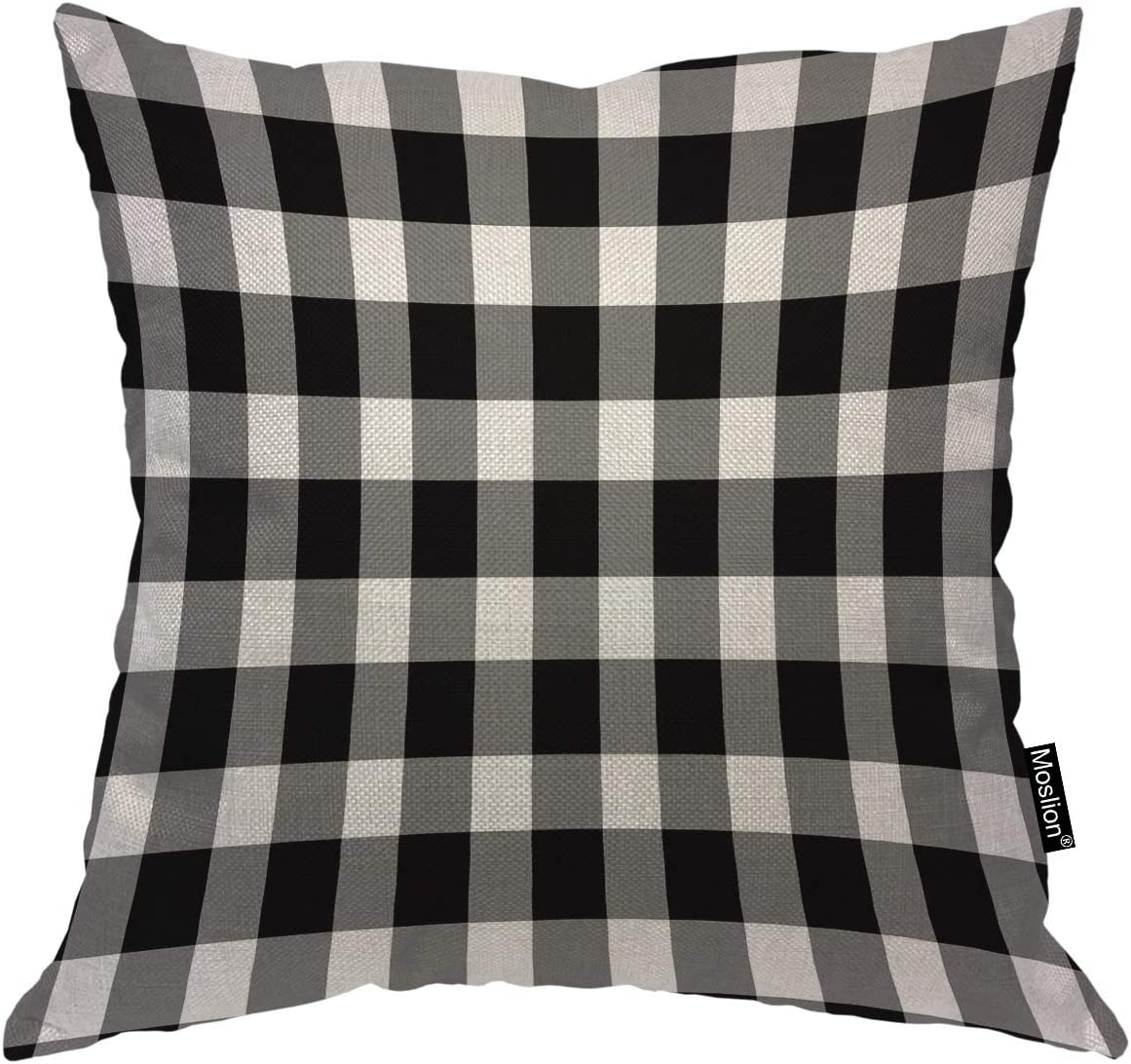 Moslion Gingham Pillow Cases 24x24 Inch