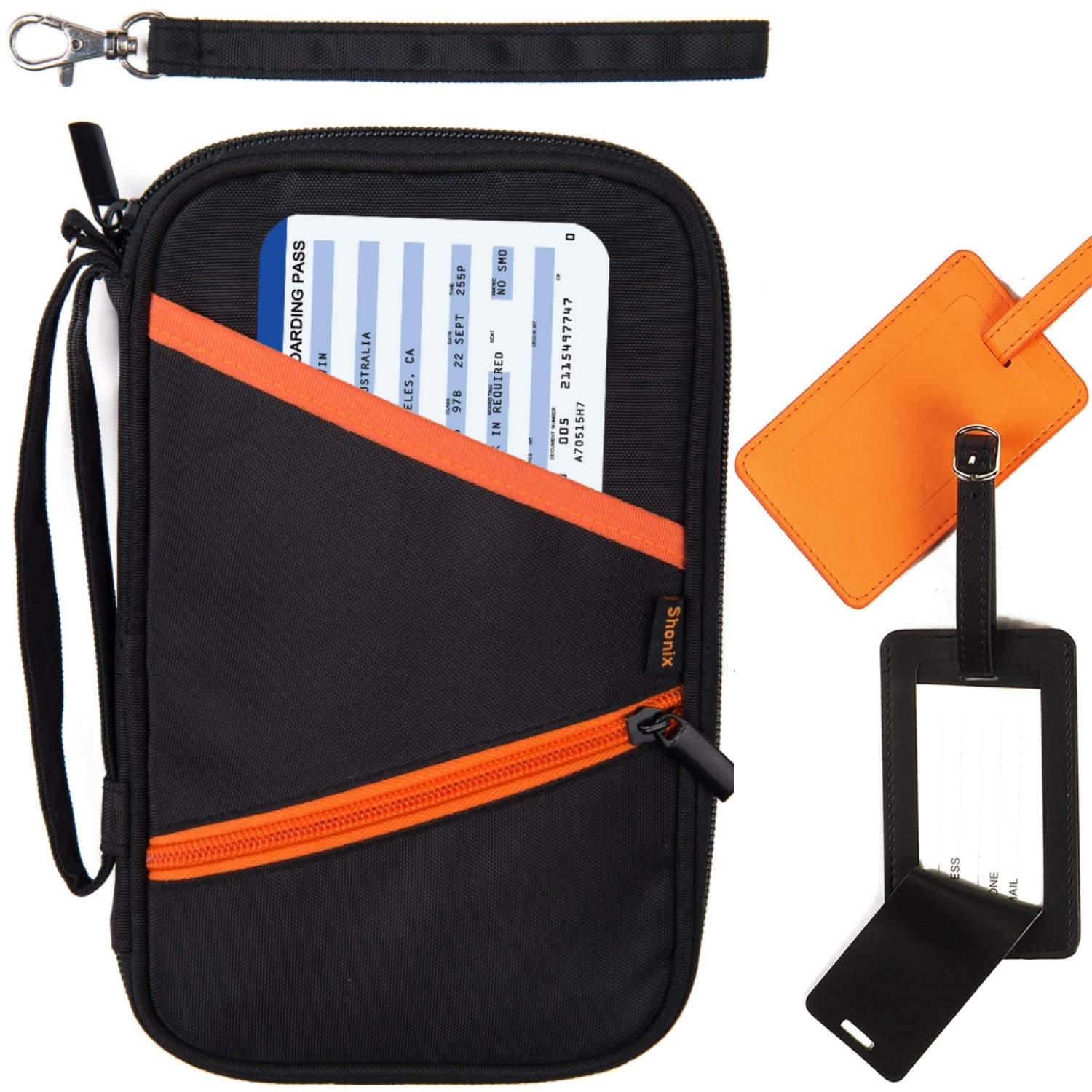 Family Passport Holder and Travel Wallet - RFID Blocking Document Organizer