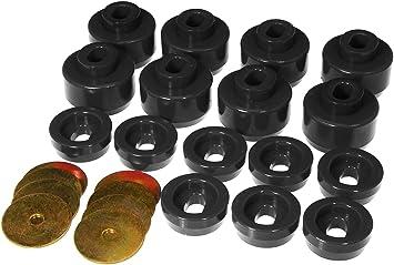 12 Piece Prothane 6-105-BL Black Body and Cab Mount Bushing Kit