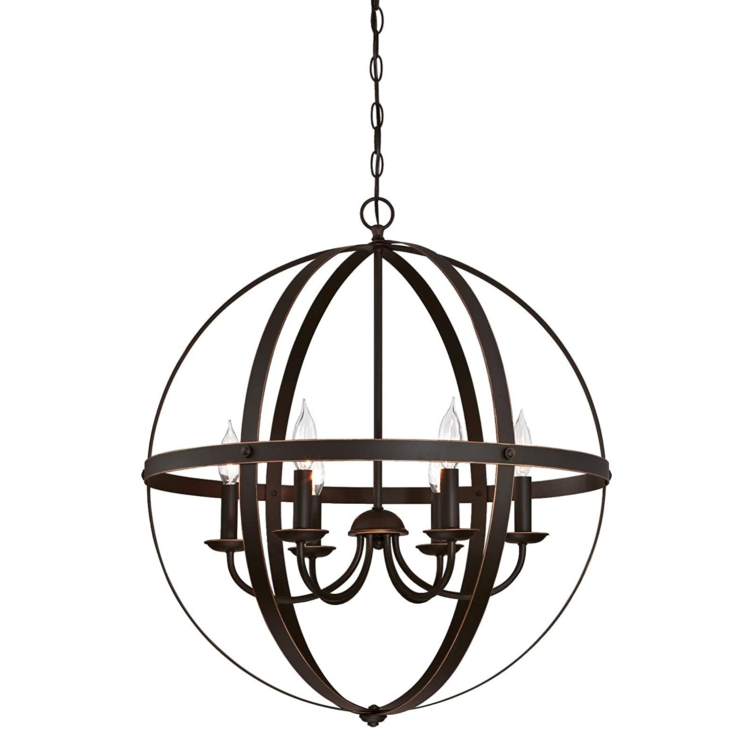 Westinghouse Lighting 6328200 Stella Mira Six-Light Indoor Chandelier, Oil Rubbed Bronze Finish with Highlights, W