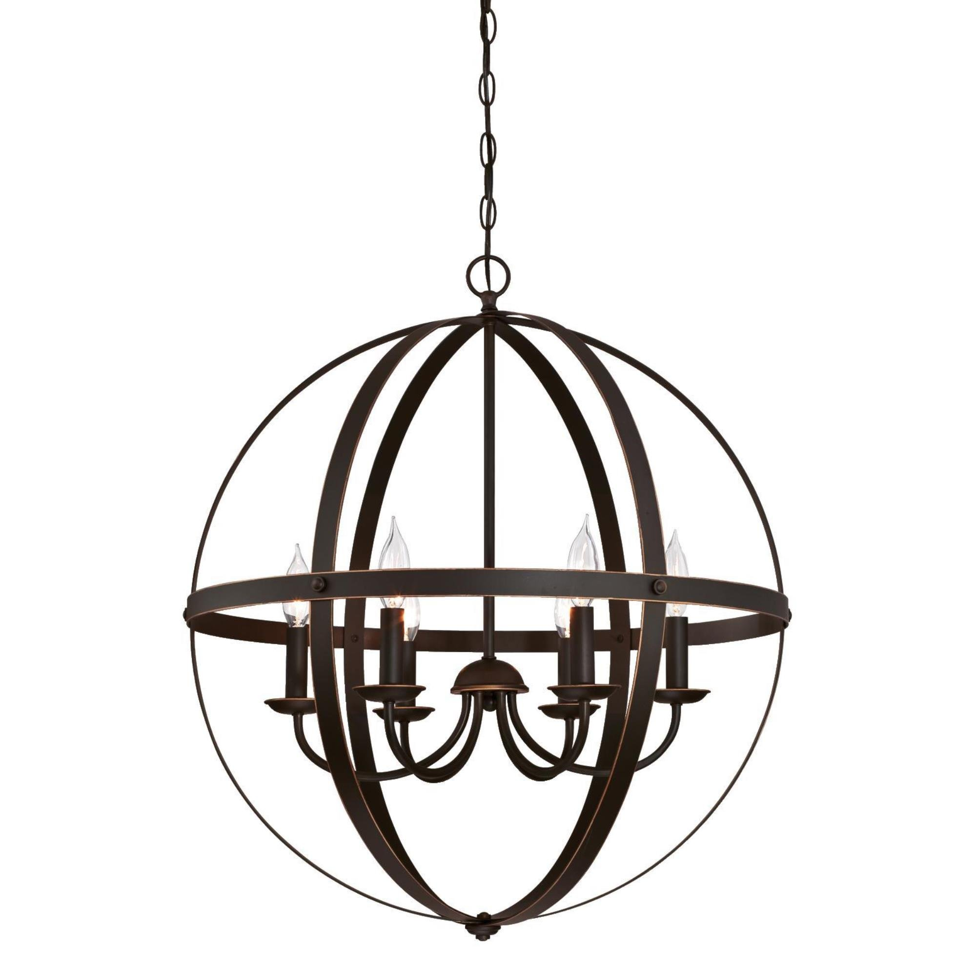 Westinghouse 6328200 Stella Mira Six-Light Indoor Chandelier Finish with Highlights, Oil Rubbed Bronze