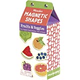 "Mudpuppy Wooden Fruits & Veggies Shapes With Magnetic Backing for Ages 3 to 7– 35 Pieces Each Measure 1.75"" in Height"