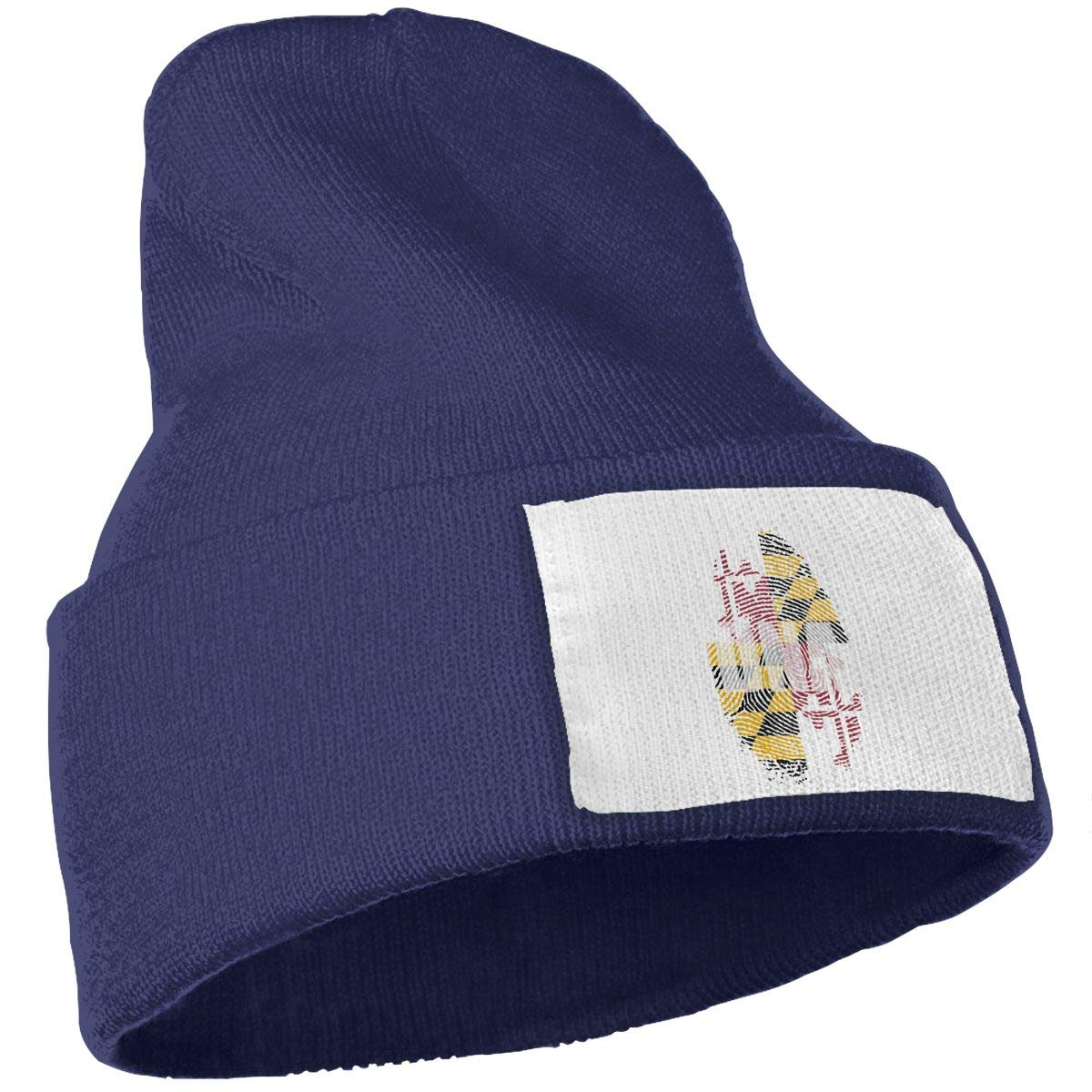 Maryland Its in My DNA Maryland Flag Women and Men Skull Caps Winter Warm Stretchy Knit Beanie Hats
