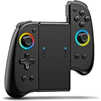 Joypad Controller Compatible with Nintendo Switch 8 Colour Adjustable LED, Replacement with D-Pad & Non-Slip Grip for…