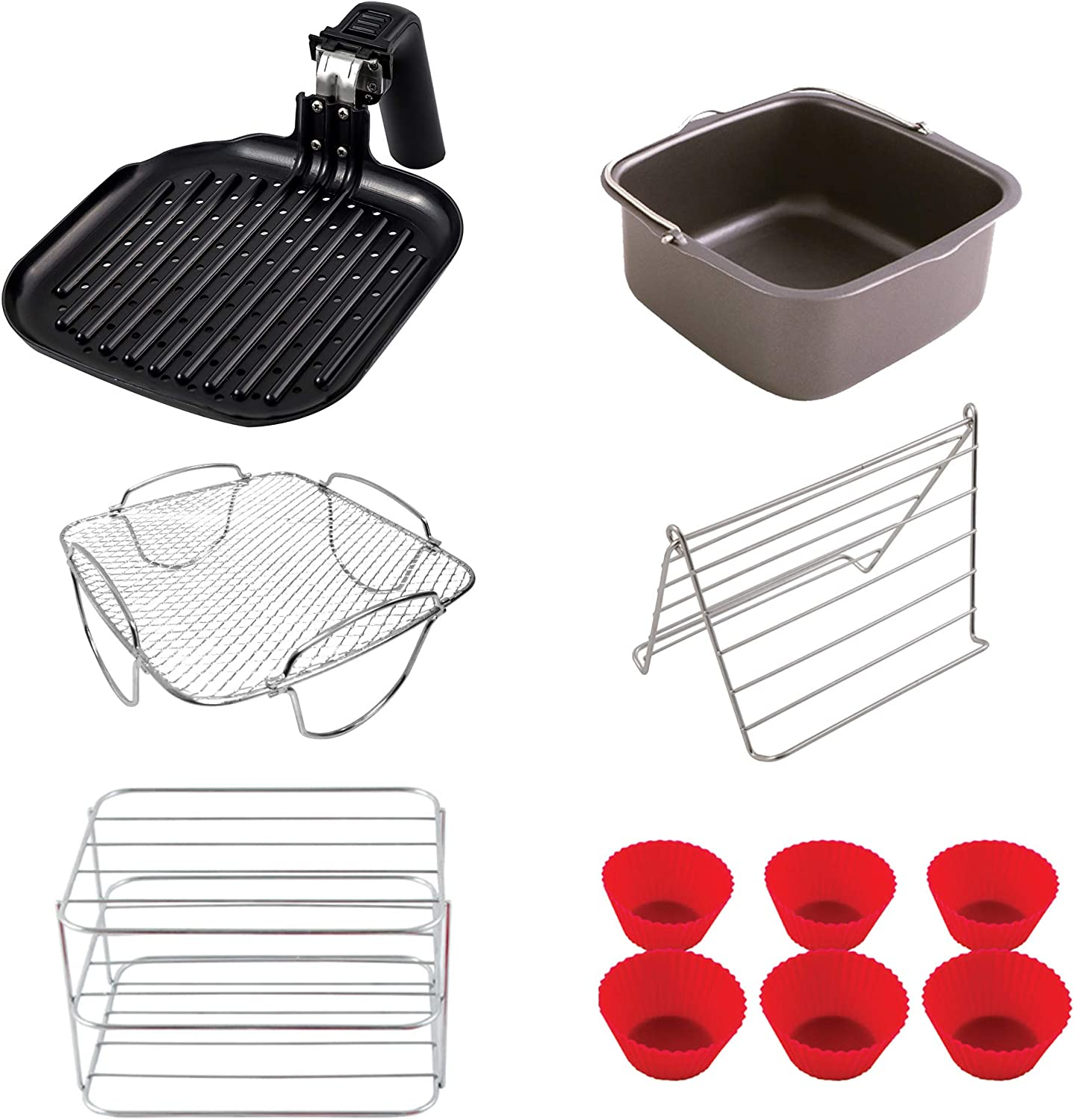 NuWave 6 QT Air Fryer Accessories (Ultimate Kit)